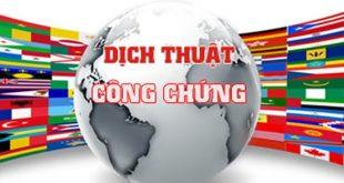 Dịch thuật công chứng tại Hà Tĩnh